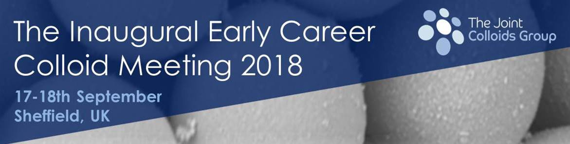 Early Career Colloids 2018 banner ad